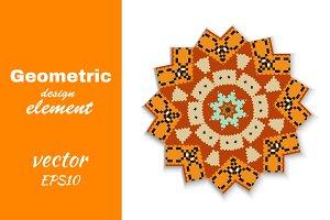 Circular geometric pattern