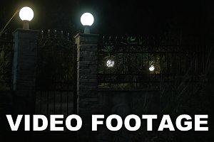 View on illuminated gates