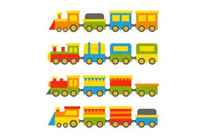 Toy Trains Set