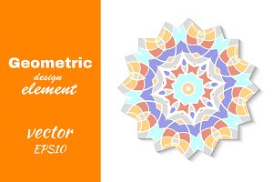 Abstract mosaic design element