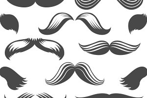 Moustaches seamless pattern