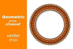 decorative round rosette