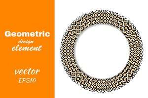 Geometric decorative round element