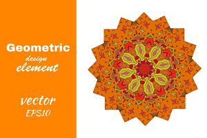 Bright mandala with floral print