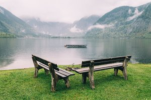 Benches in the lake