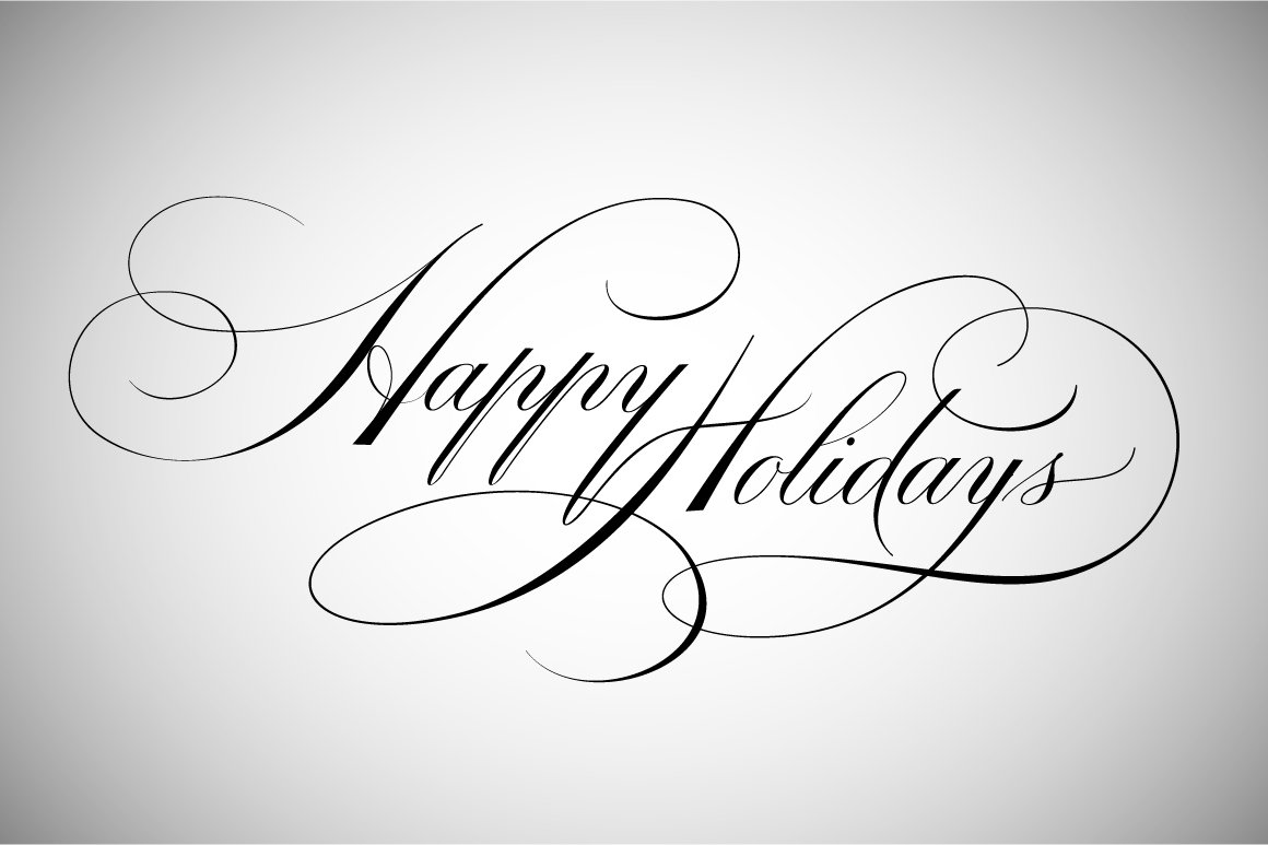 Happy Holidays Lettering Illustrations Creative Market