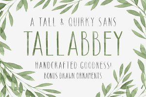 Tall Abbey + Ornaments!