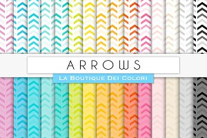Rainbow Arrows Digital Papers