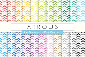Rainbow Arrows Chevron Digital Paper