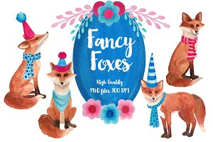 Fancy Foxes Watercolors
