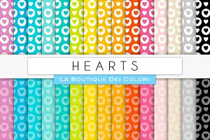 Hearts & Circles Digital Papers