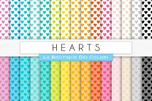 Small Hearts Digital Paper