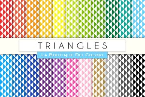 Rainbow Triangle Digital Paper