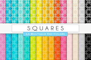Rainbow Squares Digital Paper