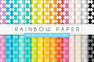 Rainbow Pattern Digital Paper