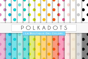Big Polkadots Digital Paper