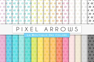 Pixel Arrows Digital Paper