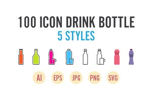 100 Icon Drink Bottle Set