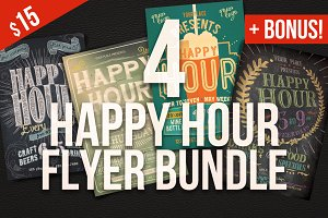 Happy Hour Flyer Bundle