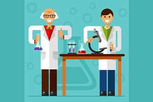 Scientist and Assistant