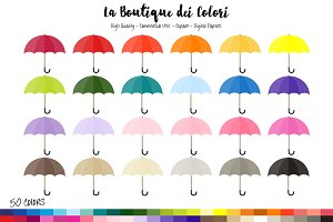 50 Umbrella Planner Clipart