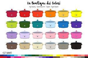 50 Rainbow Slow Cooker Clipart