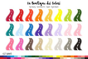 50 Rainbow Road Trip Clipart