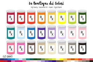 50 RX Refill Prescription Clipart