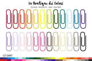 50 Rainbow Paperclip Frame Clipart