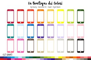50 Rainbow Mobile Phone Clipart