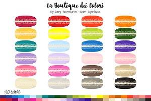 50 Rainbow Macaron Clipart
