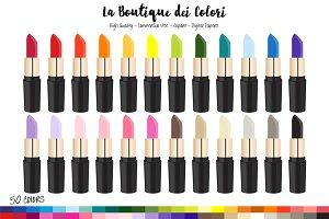 50 Rainbow Lipstick Clipart