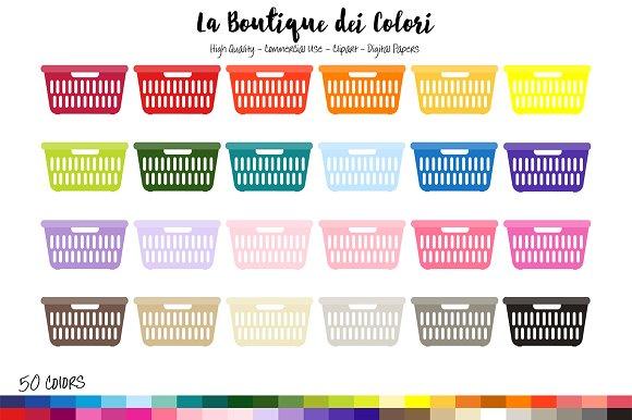 50 Laundry Basket Clipart