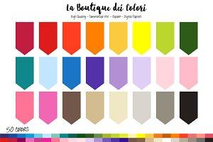 50 Rainbow Bunting Flag Clipart