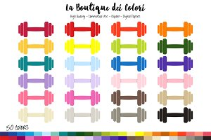 50 Rainbow dumbbell Clipart