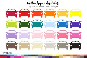 50 Rainbow Car Planner Clipart