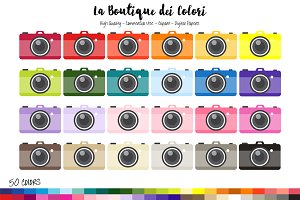 50 Rainbow Camera Clipart