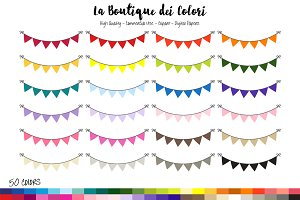 50 Bunting Banner Clipart