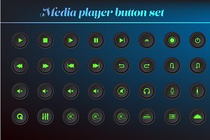 media and music player button