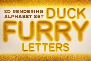 3D Duck Furry Letters Pack