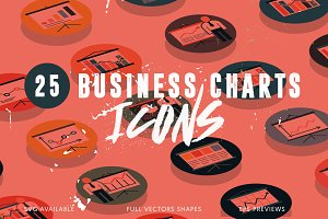 25 Business Charts Icons
