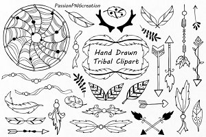 Hand Drawn Tribal Clipart
