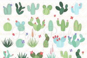 Cactus and Succulent Clipart Vectors