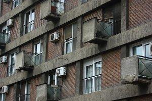Geometric Building Pattern Windows