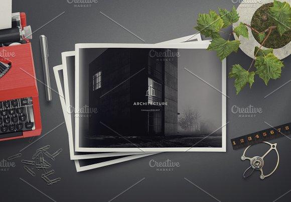 Architecture Landscape Brochure Brochure Templates Creative Market