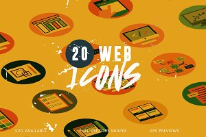 20 Web Application Icons
