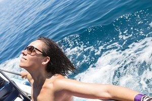 Enjoying boat trip
