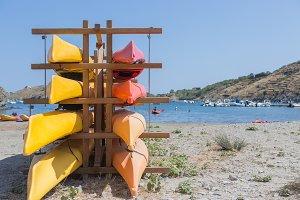 Kayak. Water sport concept