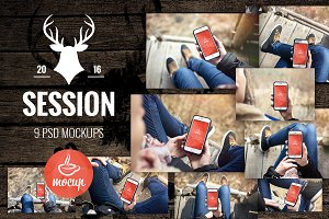 9 PSD Mockups Session