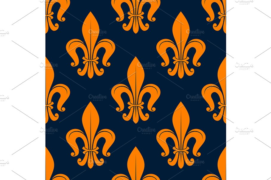 Classic french floral pattern